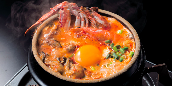 Seafood Sundubu from Japan Gourmet Hall Sora at Singapore Changi Airport in Changi, Singapore