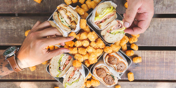 Sandwiches & Tater Tots from Park Bench Deli in Telok Ayer, Singapore