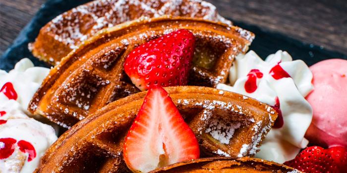 Strawberry Shortcake Waffle from Savoury in Yio Chu Kang, Singapore