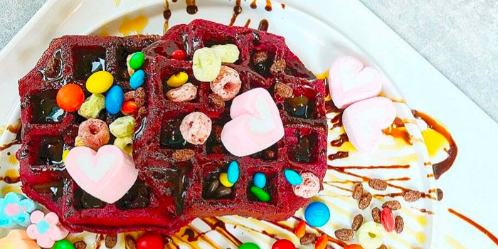 Red Velvet Waffles from Sugar Lips at Orchard Gateway in Orchard, Singapore