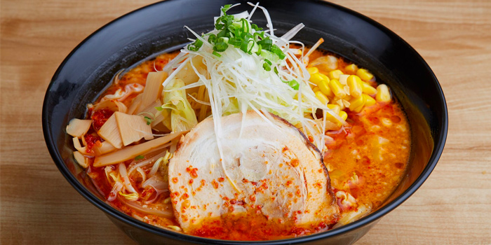 Spicy Miso Ramen from Tempura Ten Ten at Raffles City Shopping Centre in City Hall, Singapore