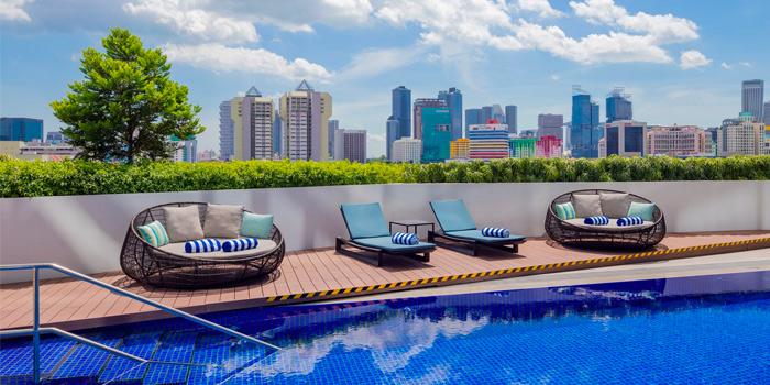 Al Fresco Seating of The Garden Grille at Hilton Garden Inn Singapore Serangoon in Little India, Singapore