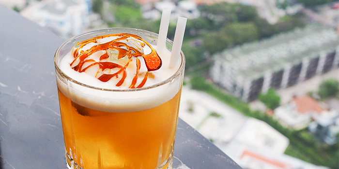 Caramel Manhattan from Urbana Rooftop Bar at Courtyard by Marriott Singapore in Novena, Singapore