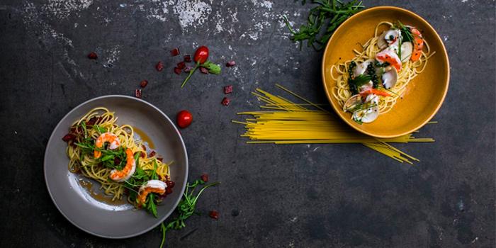 Kee Mao Seafood & Aglio Olio with Prawn from Savoury in Yio Chu Kang, Singapore