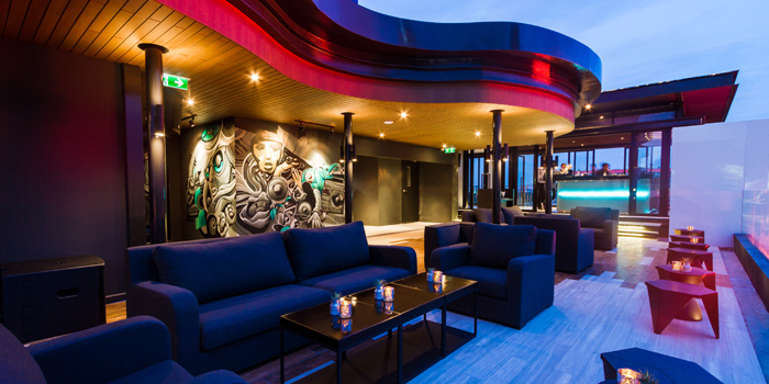 Ambience of Zook Rooftop Bar at Zazz Urban Hotel 308/1 Rama 9 Road Huai Kwang, Bangkok