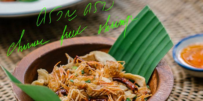 Chinese fried shrimp from Ahh Kard D at 200/1 Phibun Watthana 1 Alley Samsen Nai, Phaya Thai Bangkok
