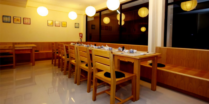 Dining Area of AOI Japanese Restaurant in Chalong, Phuket, Thailand