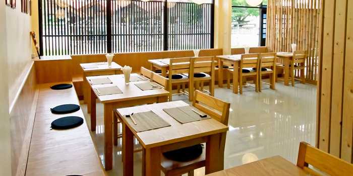 Interior of AOI Japanese Restaurant in Chalong, Phuket, Thailand