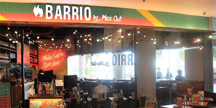 Exterior of Barrio by Mex Out (313@Somerset) in Orchard, Singapore