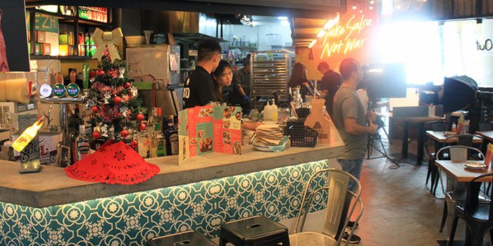 Interior of Barrio by Mex Out (313@Somerset) in Orchard, Singapore