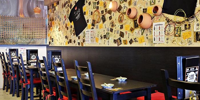 Interior of Goku Japanese Restaurant in Robertson Quay, Singapore