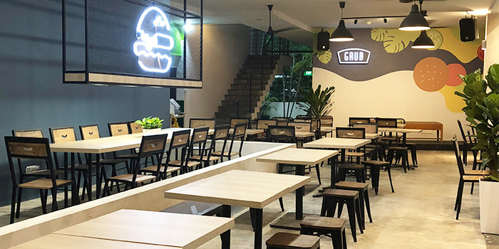 Interior of GRUB (Balestier) at HomeTeamNS-JOM in Balestier, Singapore