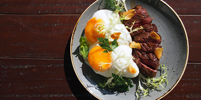 Steak & Eggs from Humpback in Chinatown, Singapore