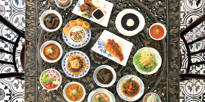 Peranakan Ala Carte Buffet Spread from Indocafe - The White House in Newton, Singapore