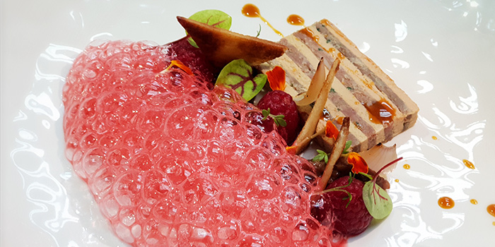 Duck Leg & Foie Gras Mille Feuille from Past & Present Restaurant & Bar in City Hall, Singapore