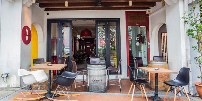 Exterior of Praelum Wine Bistro in Duxton, Singapore
