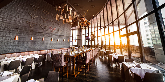 Dining Area of SEAR at Singapore Land Tower in Raffles Place, Singapore