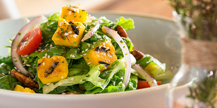 Butter Lettuce & Grilled Mango Salad from The Bird Southern Table & Bar at The Shoppes at Marina Bay Sands in Marina Bay, Singapore