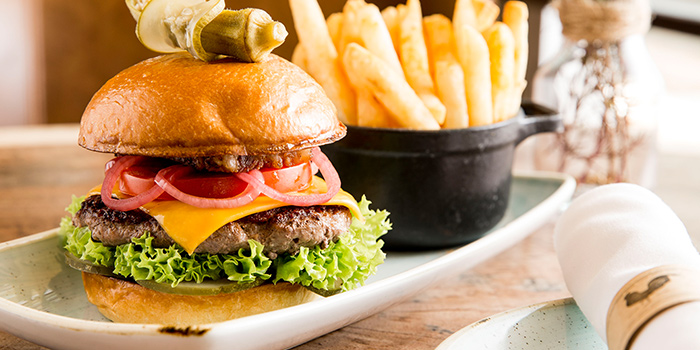Great American Burger from The Bird Southern Table & Bar at The Shoppes at Marina Bay Sands in Marina Bay, Singapore