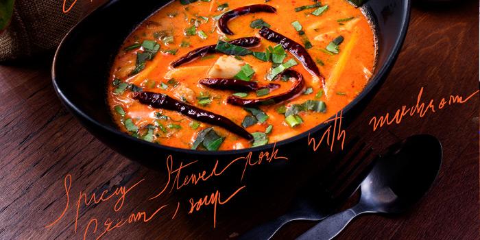Spicy stewed pork from Ahh Kard D at 200/1 Phibun Watthana 1 Alley Samsen Nai, Phaya Thai Bangkok