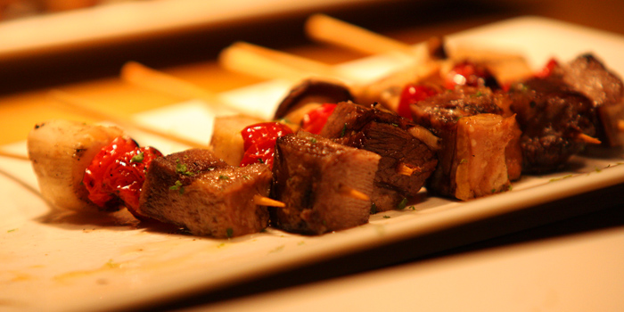 Big Beef Skewer from Pimenton Restaurant at 35 Sukhaphiban 2 Road Prawet district Bangkok