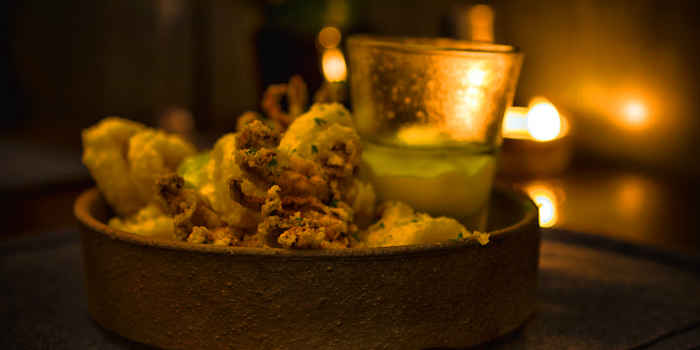 Calamares Fritos from Pimenton Restaurant at 35 Sukhaphiban 2 Road Prawet district Bangkok