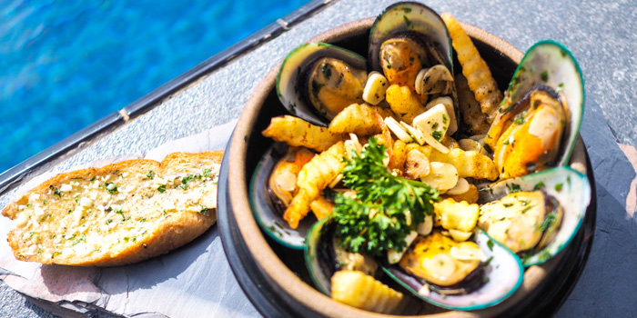 Mussels-&-Fries from Cradle in Kamala, Phuket, Thailand