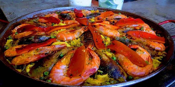 Paella De Marisco from Pimenton Restaurant at 35 Sukhaphiban 2 Road Prawet district Bangkok