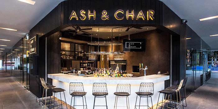 Exterior of Ash & Char in Tanjong Pagar, Singapore