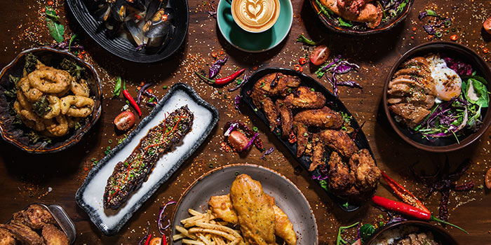 Food Spread from Ash & Char in Tanjong Pagar, Singapore