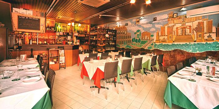 Interior of Casa Roma Ristorante Italiano in Bukit Timah, Singapore