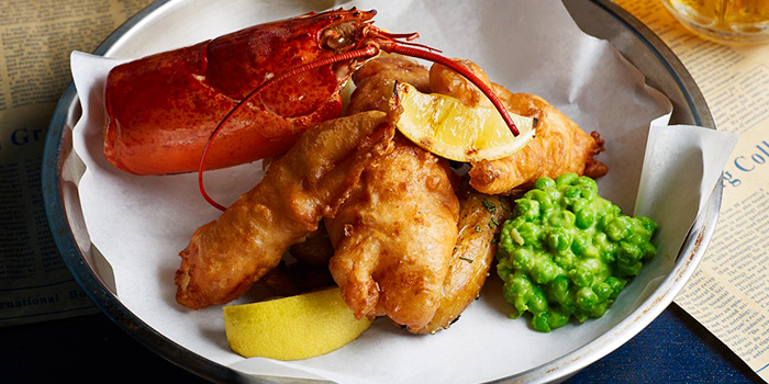 Fancy Fish & Chips from Cook & Brew at The Westin Singapore in Marina Bay, Singapore