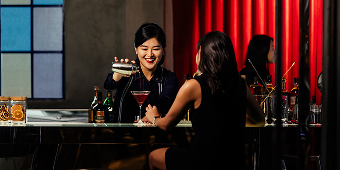 Bartender of Court Martial Bar in JW Marriott Hotel Singapore South Beach in City Hall, Singapore