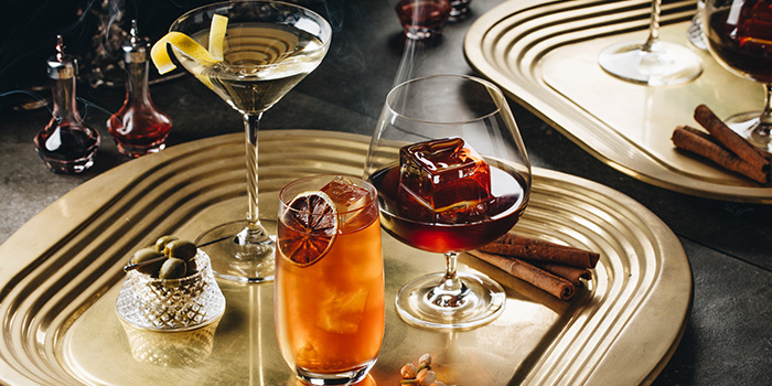 Superior Martini, South Beach Iced Tea, My Old Man from Court Martial Bar in JW Marriott Hotel Singapore South Beach in City Hall, Singapore
