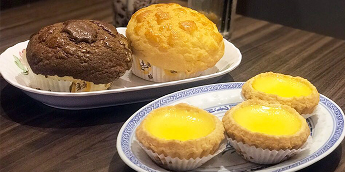 Polo Bun & Egg Tarts from Honolulu Cafe (The Centrepoint) at The Centrepoint in Orchard, Singapore