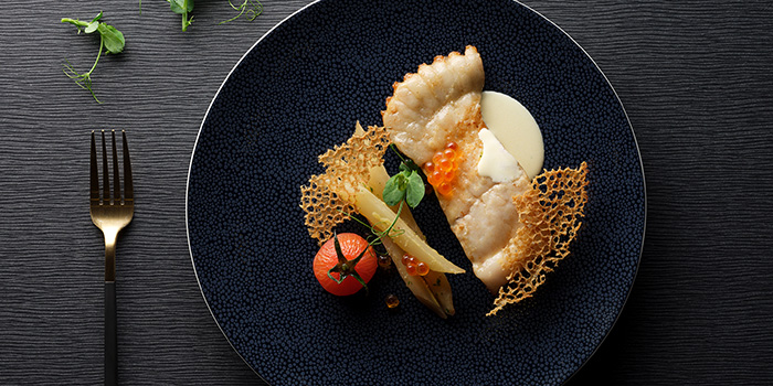 Pan Sear Turbot Fillet from Racines at Sofitel in Tanjong Pagar, Singapore
