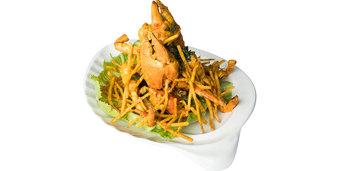 Salted Egg Crab with Crispy Yam from Ah Hoi