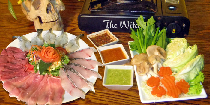 The Witch Hot Pot from The Witch Antiques & Restaurant at Muban Seri Villa Alley, Lane 2 Nong Bon, Prawet Bangkok Thailand