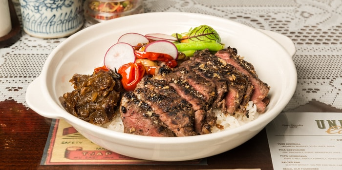 Indo Spiced Steak with Confit Cabe Rawit at Union Cafe, Senayan City