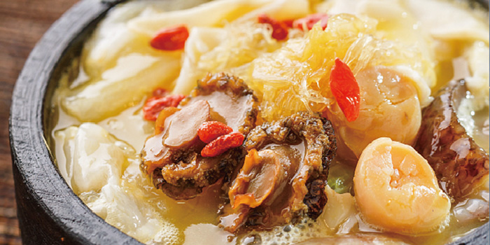 Braised Sliced Abalone with Sea Cucumber from Blue Pier at East Coast Seafood Centre in East Coast, Singapore
