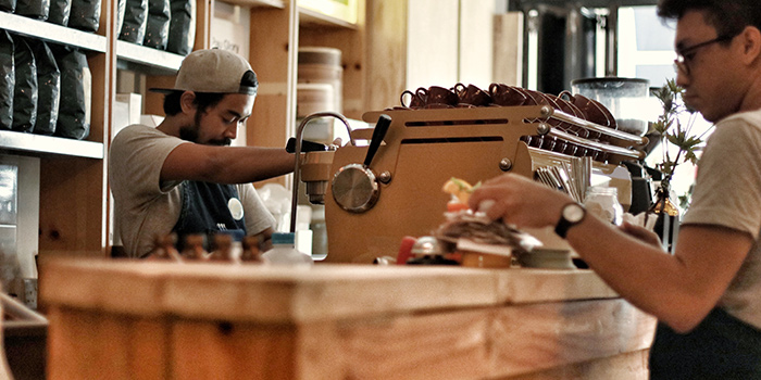 Baristas from Forty Hands East Coast in East Coast, Singapore