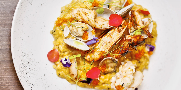 Seafood Tom Yum Risotto from Froth in Raffles Place, Singapore