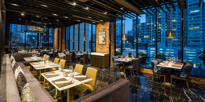 Ambience of Prime+ Urban Grill Restaurant & Bar at Floor7th, Compass SkyView Hotel 12 Sukhumvit 24 Klongton, Klongtoey Bangkok