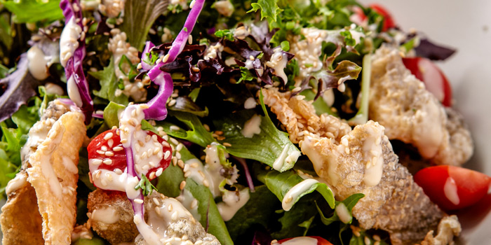 Crispy Fish Skin Salad from Jann Bistro @ Asoke, 24 Sukhumvit 21, Klongtoey Wattana, Bangkok