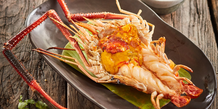 Grilled Giant River Prawn from Rongse at 248 Chieng Mai Road Khlong San, Bangkok