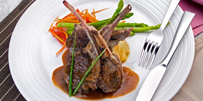Grilled Lamb Chop from Prime+ Urban Grill Restaurant & Bar at Floor7th, Compass SkyView Hotel 12 Sukhumvit 24 Klongton, Klongtoey Bangkok