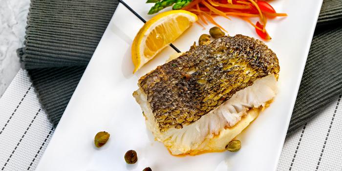 Grilled Sea Bass from Prime+ Urban Grill Restaurant & Bar at Floor7th, Compass SkyView Hotel 12 Sukhumvit 24 Klongton, Klongtoey Bangkok