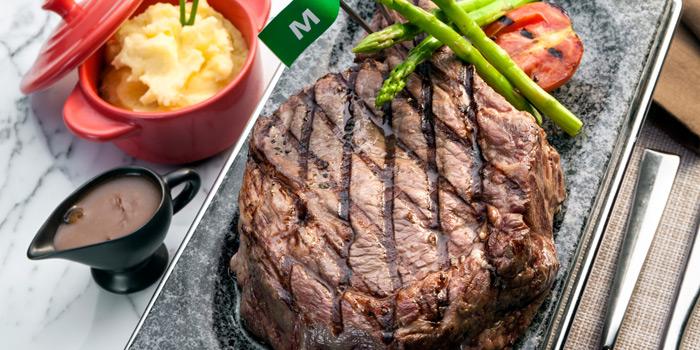 Grilled Steak from Prime+ Urban Grill Restaurant & Bar at Floor7th, Compass SkyView Hotel 12 Sukhumvit 24 Klongton, Klongtoey Bangkok