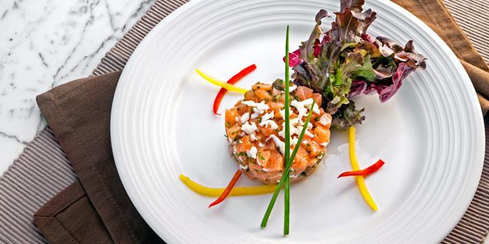 Salmon Tartare from Prime+ Urban Grill Restaurant & Bar at Floor7th, Compass SkyView Hotel 12 Sukhumvit 24 Klongton, Klongtoey Bangkok