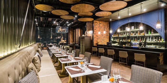 The Dining Area of Prime+ Urban Grill Restaurant & Bar at Floor7th, Compass SkyView Hotel 12 Sukhumvit 24 Klongton, Klongtoey Bangkok